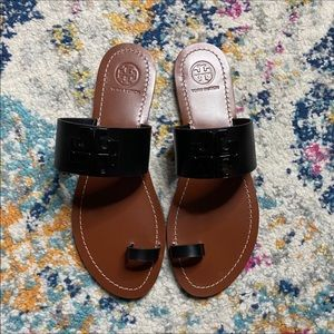 NWOT Tory Burch Black Leader Slippers SIZE 7.5